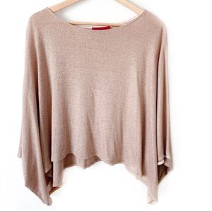 Akira | Pink Shimmery Cropped Flowy Top